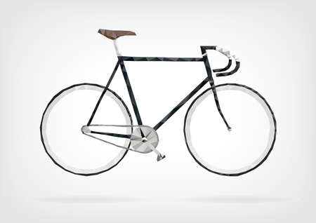 Low Poly Fixie Bicycle Illustration