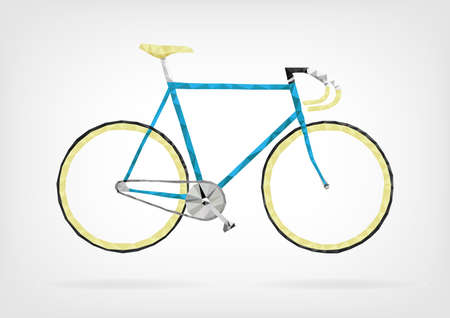 pedaling: Low Poly Fixie Bicycle Illustration