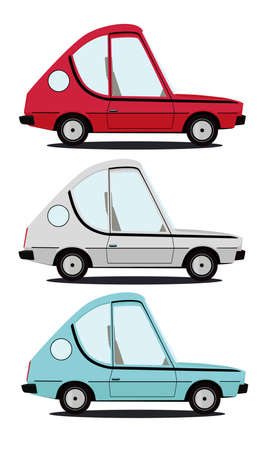 funny cartoon car illustration Vector