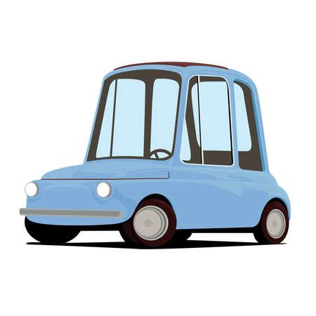 funny car: funny cartoon car illustration