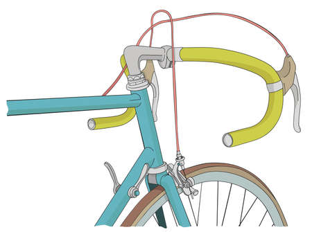 illustration cool: Cool vinatage bicycle illustration