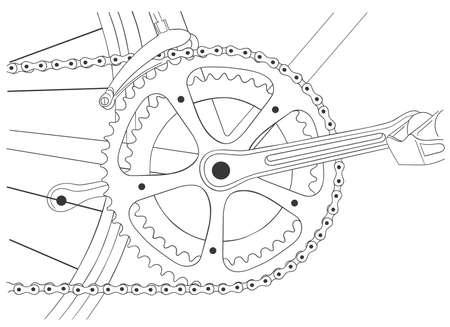 spoke: Cool vinatage bicycle illustration