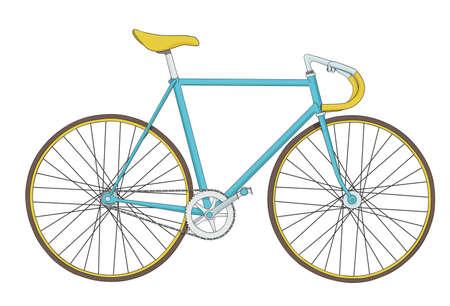 koel: Koele vintage fiets illustratie