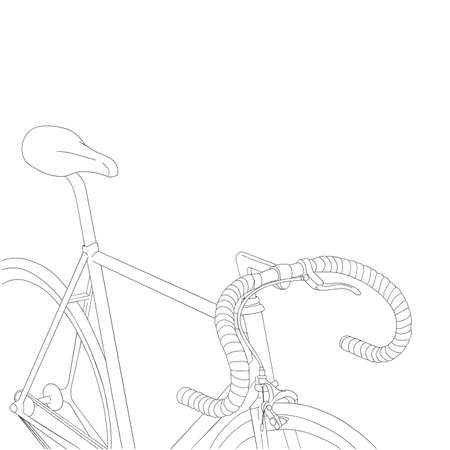 road bike: cool vintage bicycle illustration