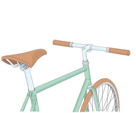 koel: koele vintage fiets illustratie Stock Illustratie