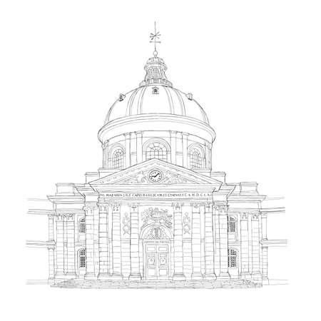 urbane: Paris urban sketch - Institut de France