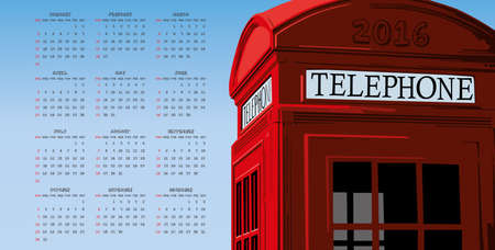 phonebooth: 2016 london phonebooth calendar