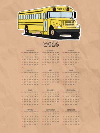 calendario escolar: Calendario autobús escolar 2016