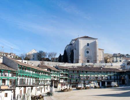Chinchon - 마드리드, 스페인에 가까운 유명한 역사적인 마을 스톡 콘텐츠