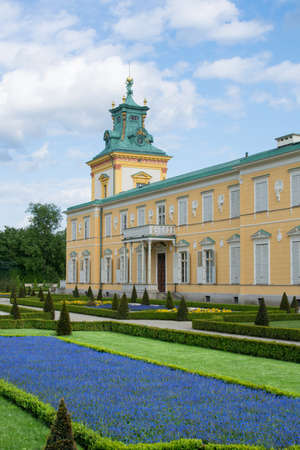 wilanow: Royal Wilanow Palace or Wilanowski Palace with park in Warsaw, Poland