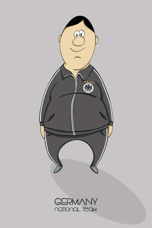league of nations: Cartoon football player in a jersey of national team of Germany Illustration