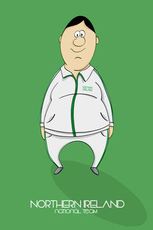 northern ireland: Cartoon football player in a jersey of national team of Northern Ireland Illustration