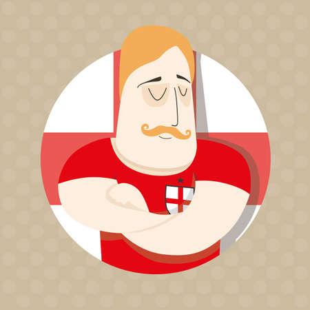 color match: English football player Illustration