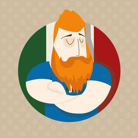 color match: Italian football player