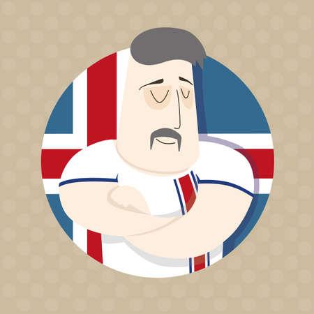 icelandic: Icelandic football player Illustration