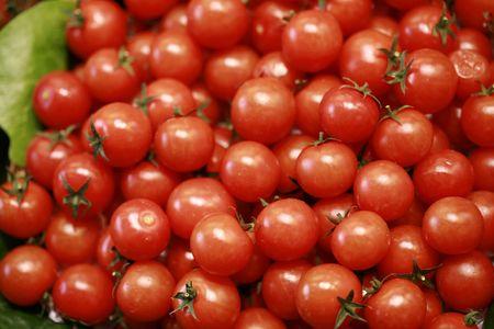 tomatos: Cherry Tomatos Stock Photo
