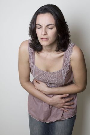 Stomach ache woman   Stock Photo - 4638565