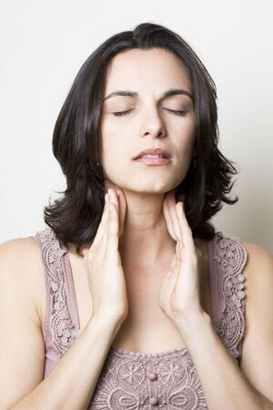 Sore Throat woman Stock Photo - 4638591