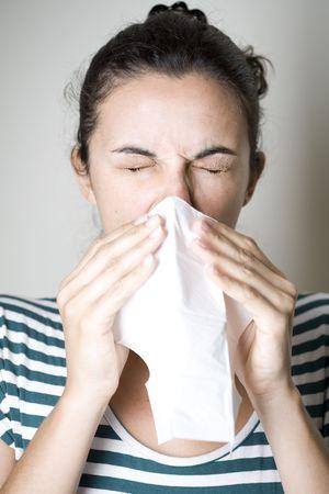 Woman Sneezing Stock Photo - 5715216