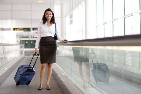 azafata: De negocios que viajan de Am�rica Foto de archivo