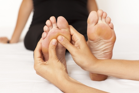 acupressure hands: Foot Massage