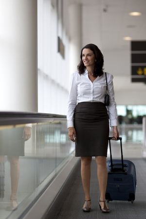 businesswoman travelling  photo