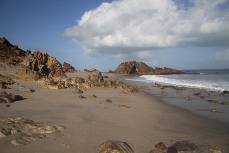 Pedra Furada in Jericoacoara Brazil  photo