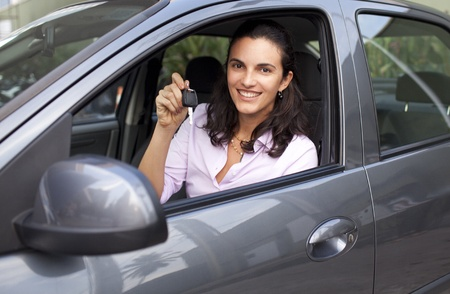 woman with keys in a car Stock Photo - 11873634