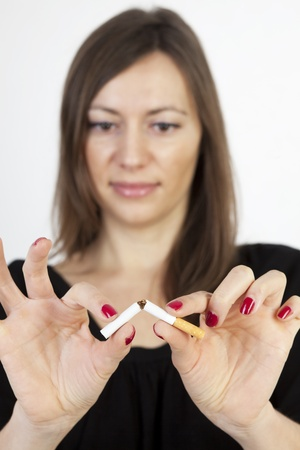 quiting smoking: Symbol picture for quiting smoking