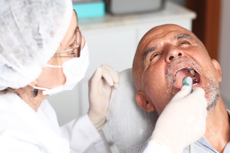 Hispanic man at the dentist Stock Photo - 12047626