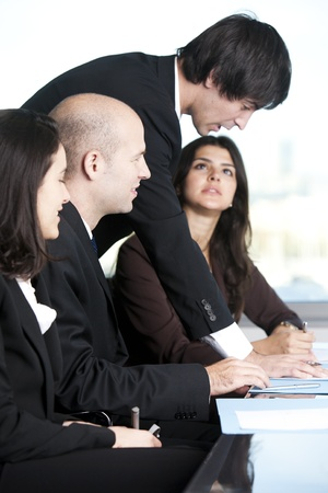 company ownership: Group of young lawyers Stock Photo