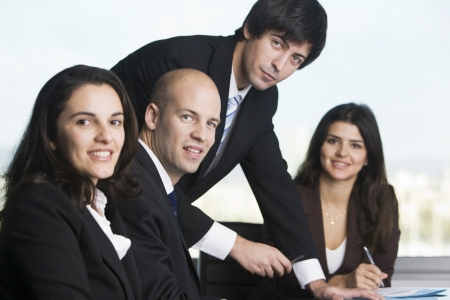 business law: Group of young lawyers Stock Photo