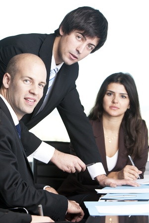 proceedings: Group of young lawyers Stock Photo