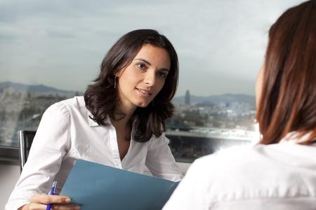 interview job: Empresas entrevista Foto de archivo