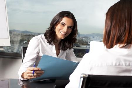 仕事: ビジネスのインタビュー 写真素材