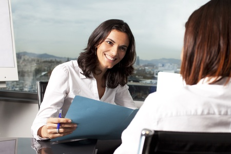 entrevista: Empresas entrevista Foto de archivo