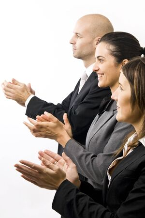 profesional: Businesspeople clapping Stock Photo
