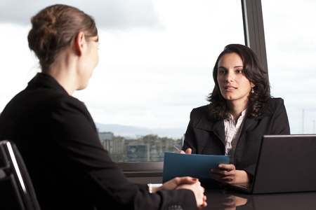 Consultation with  agent Stock Photo