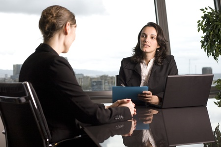 Bank consultant with client Stock Photo - 14361742