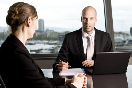 Bank consultant with client Stock Photo - 14361729