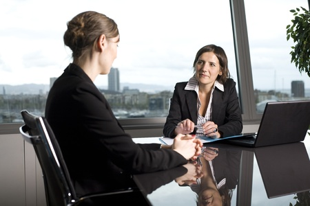 tax consultants: Bank consultant with client Stock Photo