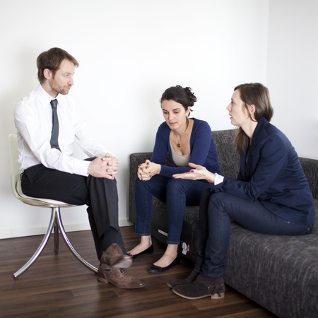 couples therapy: Two women during therapy session
