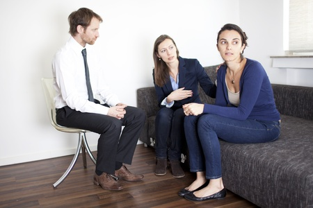 counseling session:  Two women during therapy session