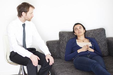 Woman at psychoanalysis