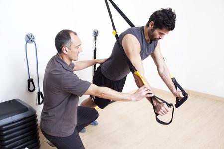 fisioterapia: trx entrenamiento