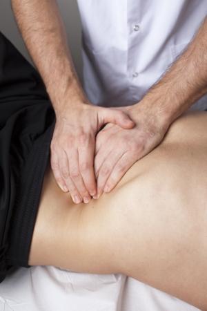 terapia ocupacional: masaje de abdomen
