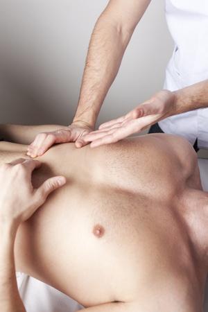 Torso massage photo