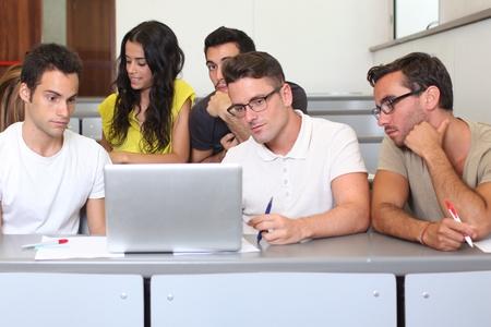 Students at university photo