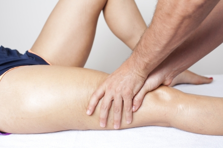 massage therapist working Banque d'images