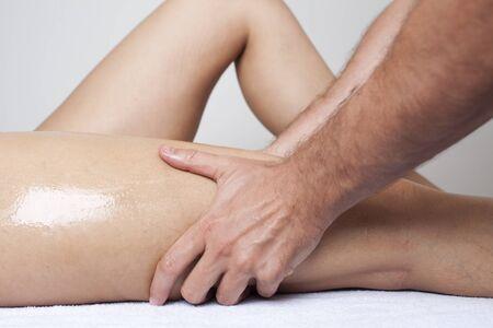 Leg massage photo